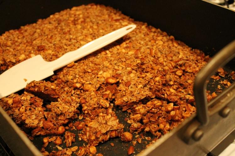Breaking granola