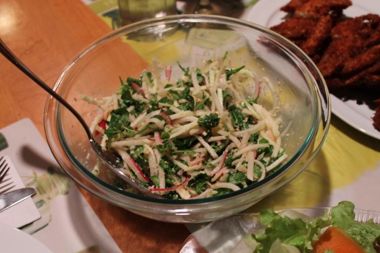 Kohlrabi watercress salad
